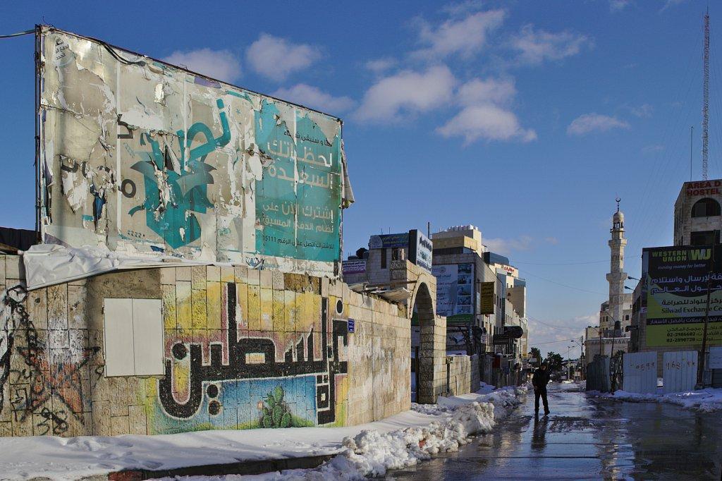 Snow in Ramallah.