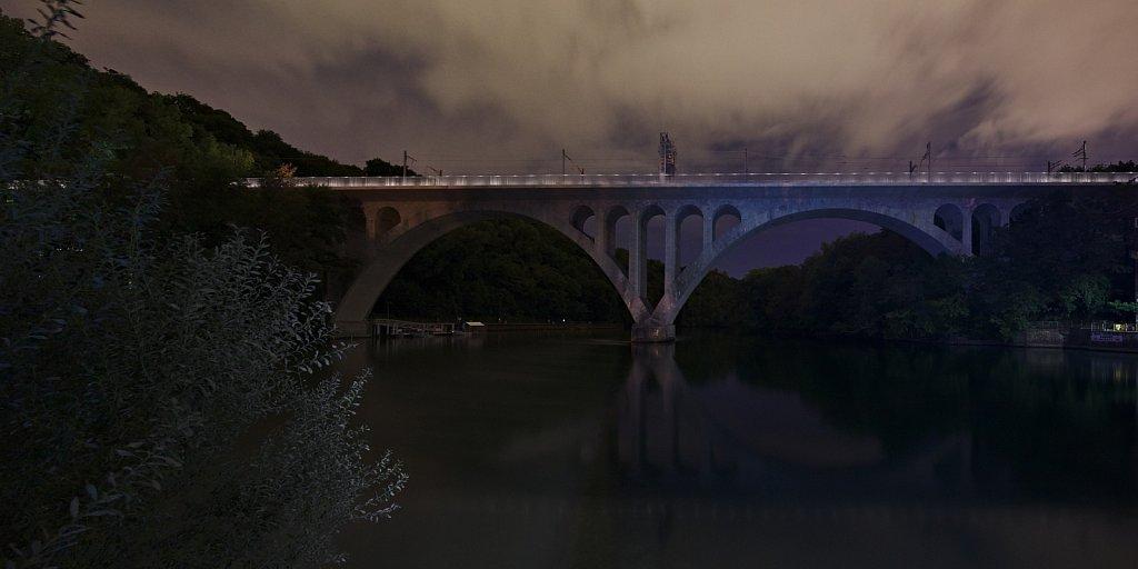 Nachts Über Rhône und Arve